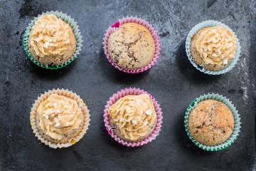 Čokoládové cupcakes se slaným karamelem