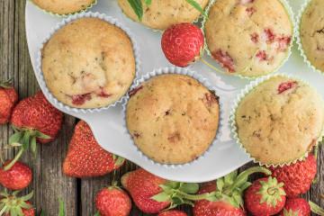 Muffiny jahodovo-mátové
