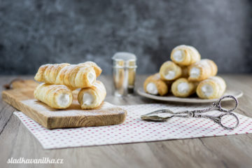 Máslové trubičky (kremrole)