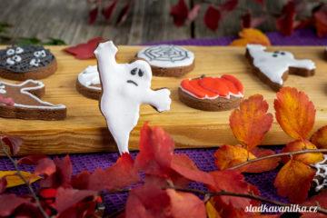Halloweenské kakaové sušenky