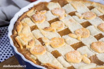 Křehký koláč s jablečným pyré
